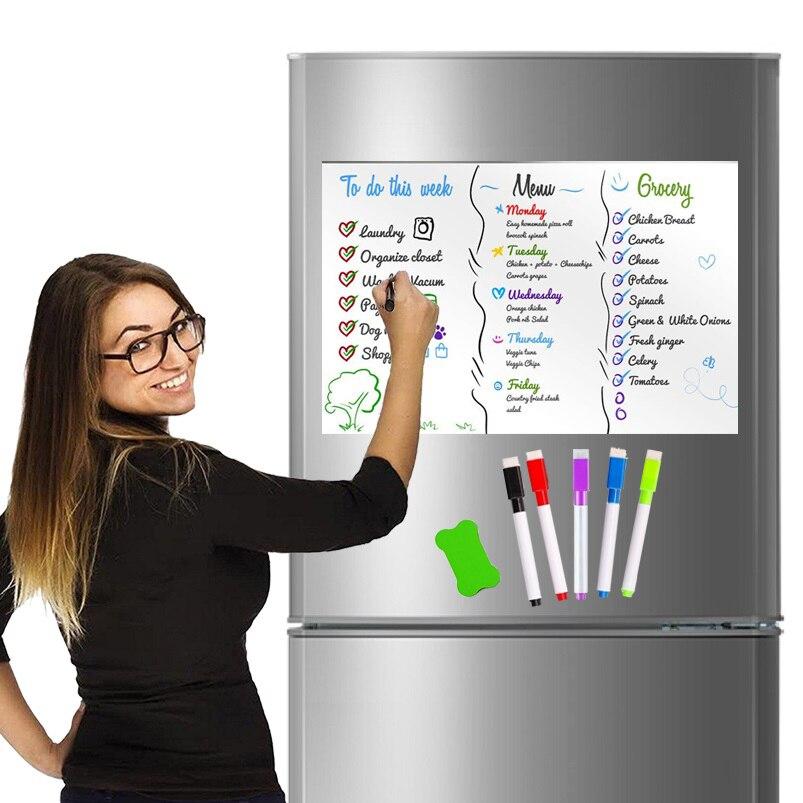 A3 tableau blanc effaçable à sec tableau de présentation école blanc conseils bureau calendrier conseil aimants pour réfrigérateur bloc-notes intelligent