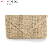 Women Clutch Purse Envelope Evening Bag Small Elegant Straw Plaited Article Bags for Women 2020 Luxury Handbag Long Wallet Bolsa colorful rainbow real fur women s leather handbag tassen ball day clutch purse vintage envelope bag small clutch evening bag