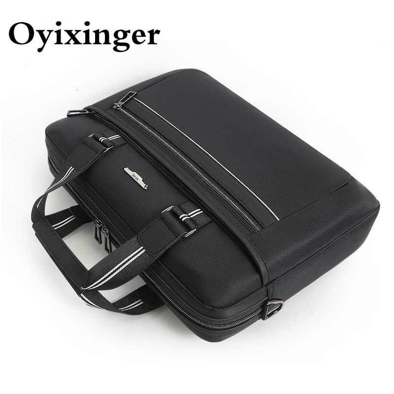 OYIXINGER Portable Men's Office Bags For Men Waterproof Briefcase Business Notebook Computer Bag Women Shoulder Bag Bolso Hombre