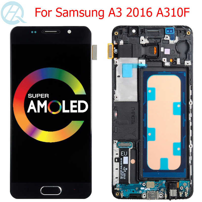 Original <font><b>A310F</b></font> LCD For Samsung Galaxy A3 2016 <font><b>Display</b></font> With Frame 4.7