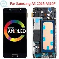 Originele A310F Lcd Voor Samsung Galaxy A3 2016 Display Met Frame 4.7