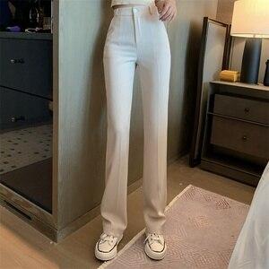 Women Summer Solid Elegant Straight Slim Pants Office Lady Skinny High Waist Fashion Vestido Trousers New