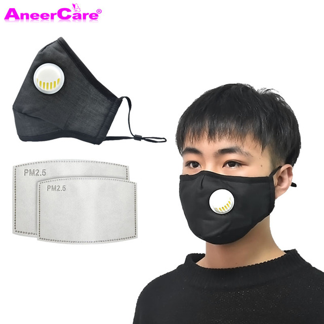 dust respirator face mask carbon filter mask PM2.5 1Mask+10 Filter N95 Respirator Mask reuse flu face masks air pollution 2