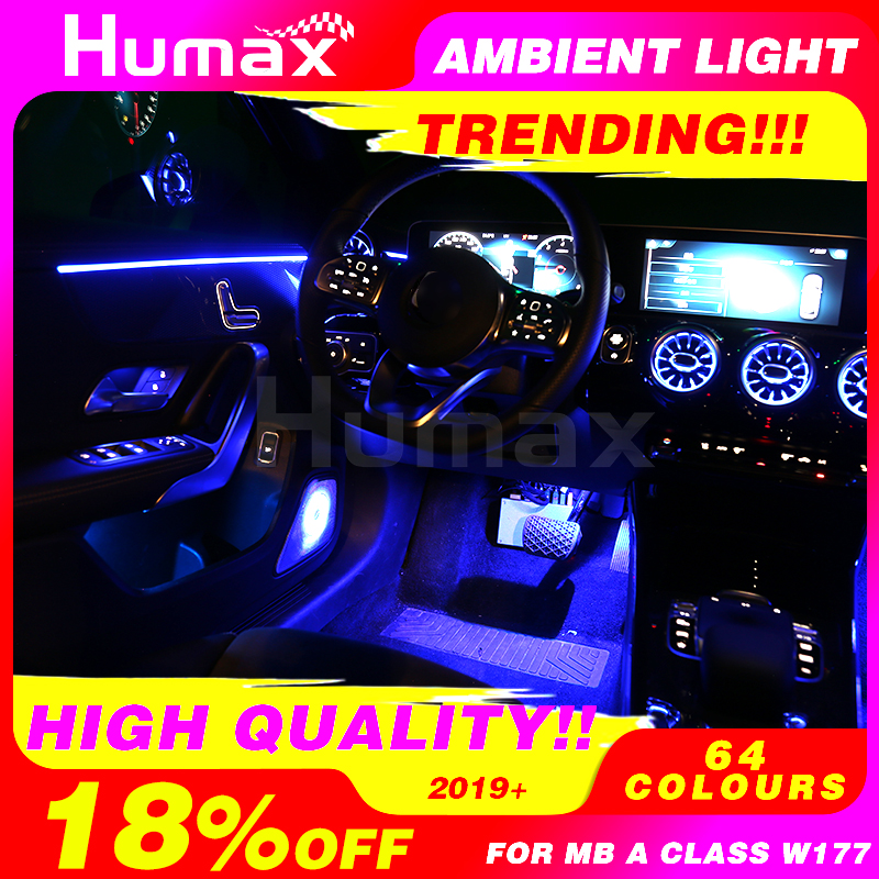 Upgrade 64 Colors Ambient Light For W177 Mercede Benz A Class A200 Light Cover Atmosphere Lamp Advanced