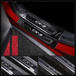 Image 4 - עבור מאזדה CX 3 CX3 2015 2016 2017 2018 2019 נירוסטה לרכב דלת אדן שפשוף צלחת בברכה דוושות מגן Trim אבזרים