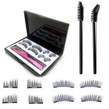 8PCS/Set 3D False Eyelashes Double Magnetic Lashes Pure Handwork Applicator Natural Eye Makeup Extension Tools