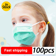 Profession Child Kids Boy Girl  Mask 100Pcs/Pack Surgical 3-Ply PM2.5 N95 Nonwoven Disposable Breathable Face Mask