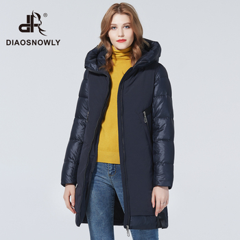 Diaosnowly New Winter thick jacket for women 2020 fashion thick coats for women hooded long jackets woman parka long warm Winter clothes female maternity winter jacket women new 2018 coats female parka black thick cotton padded lining clothes pregnant woman outwear