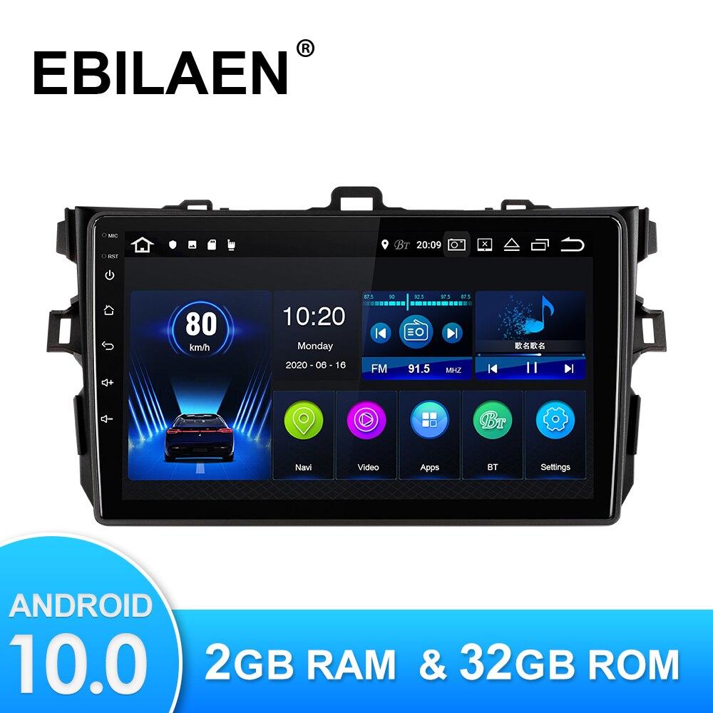 Android 10,0 автомобильный мультимедийный плеер для Toyota Corolla E140 150 2007-2016 Авторадио GPS навигационная камера WIFI IPS экран стерео