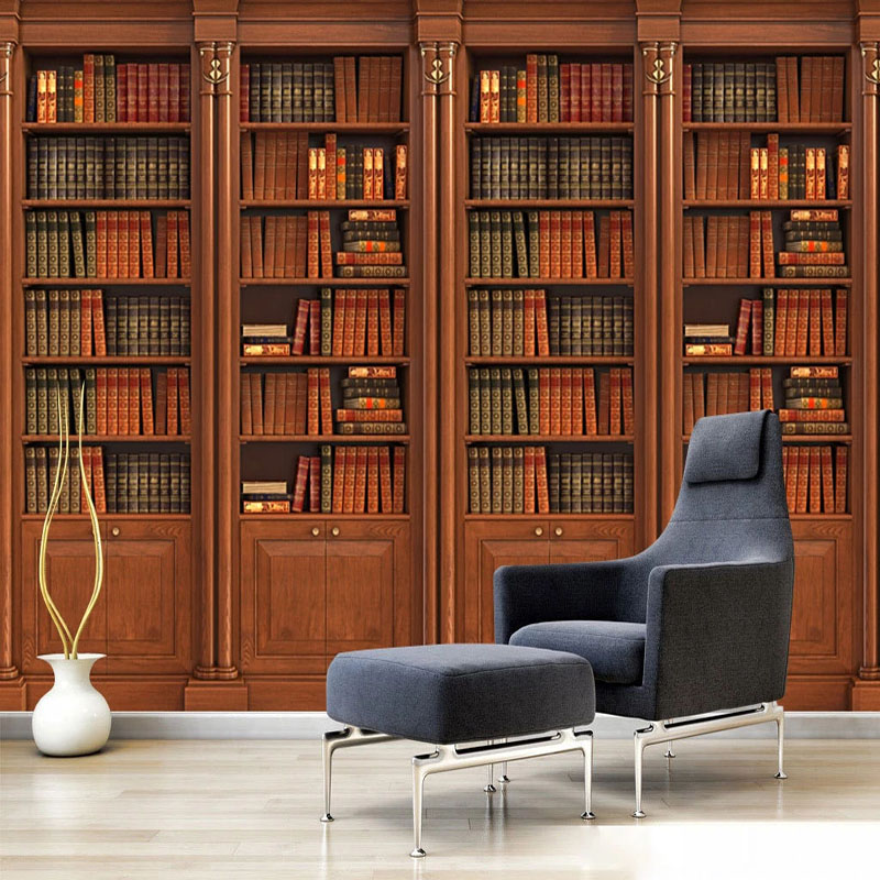 Custom Photo Wallpaper 3D Stereo Bookshelf Bookcase Murals Living Room TV Sofa Study Home Decor Background Wall Papers For Walls
