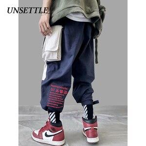 Image 2 - 2020 Japanse Kleur Zwart Zakken Cargo Broek Mannen Hip Hop Mannelijke Tatical Enkel Broek Joggers Casual Streetwear Broek