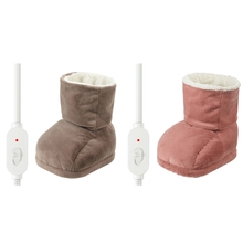 Washable Winter Foot Warmer Shoes Plush Heating Warm Boot Electric Feet Heater
