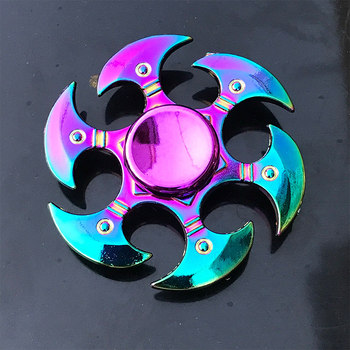 Rainbow Metal Finger Spinner R118 Bearing Spinner Toy  Toys for Children Raytheon Mushroom 60-65mm Fidget Spinner 2019