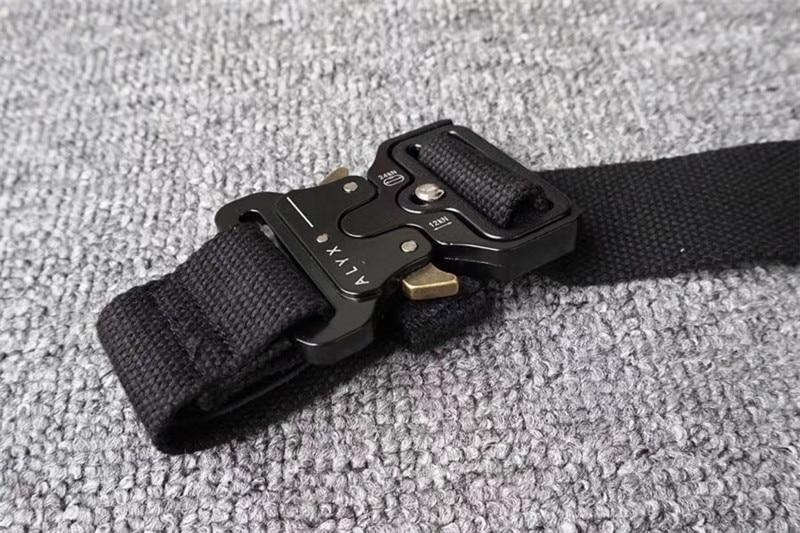 ALYX Belt 128cm Rollercoaster Metal Button Canvas Hip Hop Street Wear Safety Belt