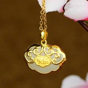Image 5 - Gold plated Baby สีทองยาวจี้จี้หยกหยกพระพุทธรูป Gong สร้อยคอ