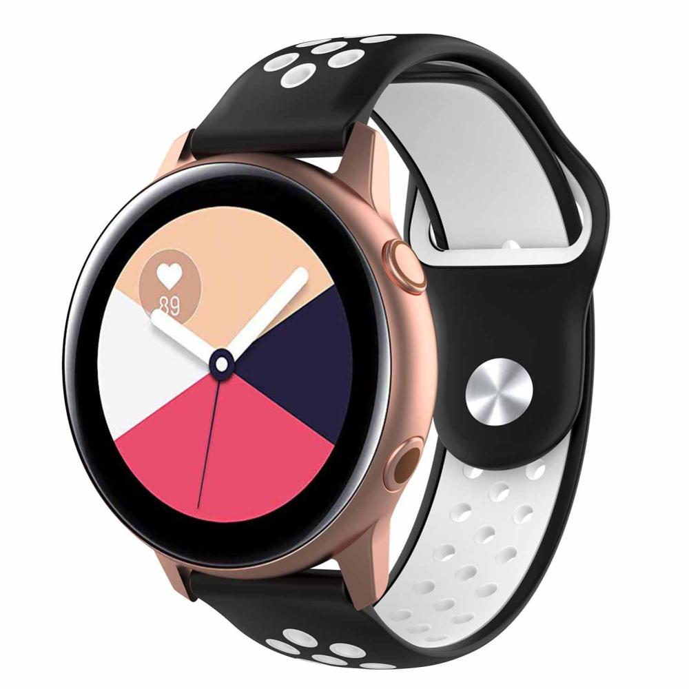 Soft Silicone Watchband for Samsung Galaxy Watch Active Strap Classic Replacement Bracelet Watch Belt 20mm Strap Watch Active in Smart Accessories from Consumer Electronics