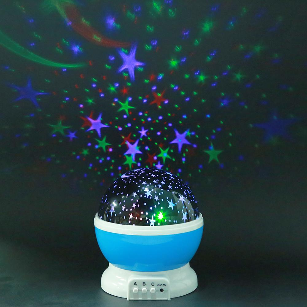 Rotating Projector Star Night Lamp Projection LED Lights For Kids Bedroom Decoration Children Gift Moon Star Flash Night Lamp