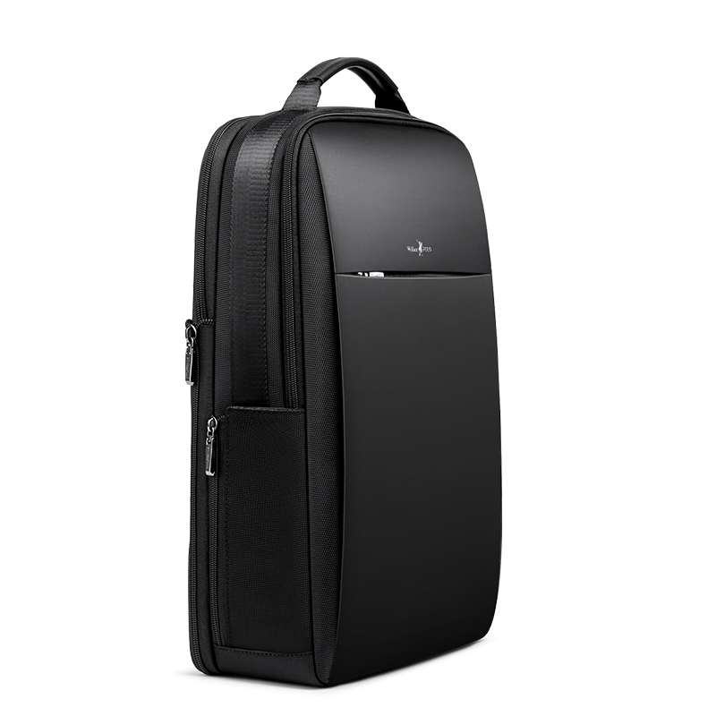 Slim Laptop Backpack Men 15.6 inch Office Work Men Backpack Business Bag Unisex Black Ultralight Backpack Thin Back Pack