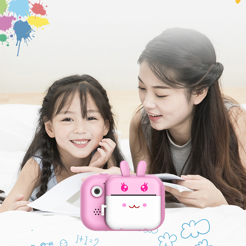 1080P Instant Print Camera Toys for Children Kids Digital Camera with Thermal Photo Paper 32Gb TF Card Gift for Girls Boys