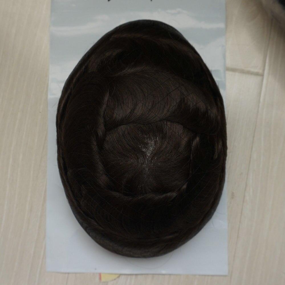 Image 3 - Hstonir супер тонкие волосы кожа человека Для мужчин invisible волос V цикл мужчины Накладки Пело естественного peluca corto humano h078humano    АлиЭкспресс