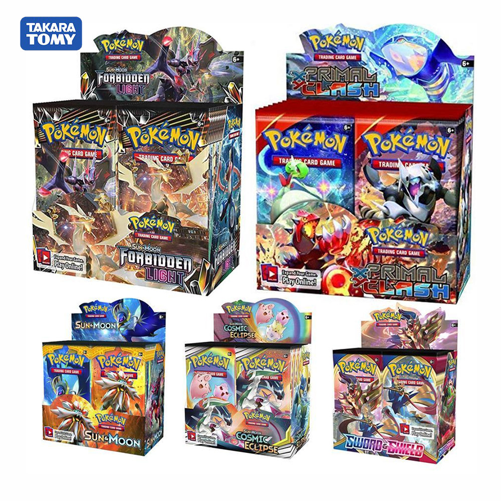 324pcs Pokemon Card TCG: Sun & Moon Unified Minds Sword Shield Vmax Thunder Trading Card Game A Box Of 36 Bags Collection