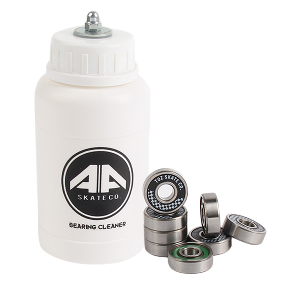 8 Pieces Skate Roller Inline Scooter Hockey Shoes Bearings With Bearing Cleaning Bottle - Premium Durable Portable Accessories
