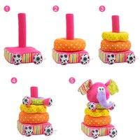 Speelgoed Voor Pasgeboren Kinderen Educatief Baby Speelgoed Zachte Pluche Mobiele Rammelaars Speelgoed Kidsbele Olifant Stapelen Baby Speelgoed Tafelbel 2