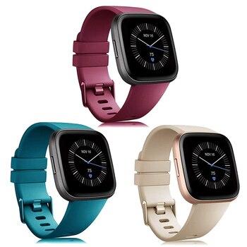 Pulseira Fitbit Versa em silicone compatível com todas as verções da Fitbit