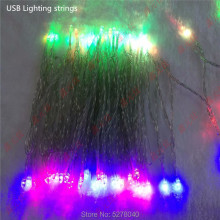 USB lighting strings 2m 3m 5m 10meter white red blue green warm white RGB 3.7-5v 20leds 30leds 50leds 100leds decorative chain