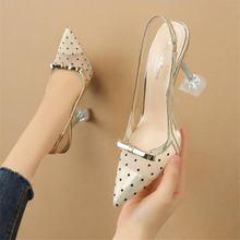 Женские ажурные туфли лодочки привлекательные прозрачные босоножки