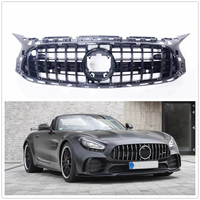 For Mercedes Benz C190 AMG GT 2017 2018 2019 2020 Front Bumper Grille Mesh Grill Black New AA