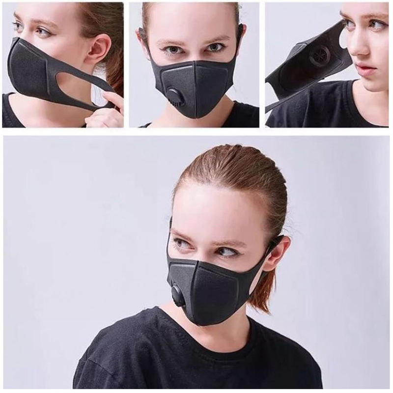 Pollution-Mask Respirator Mask-Made Adjustable-Straps Anti-Air-Dust Washable Military-Grade title=