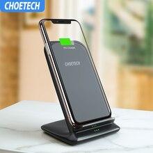 CHOETECH 15 Вт QI Беспроводное зарядное устройство для LG V30 V30 + V35 G8 Быстрое беспроводное зарядное устройство для Iphone Xs Max XR X 8 для samsung S10 S9 S8