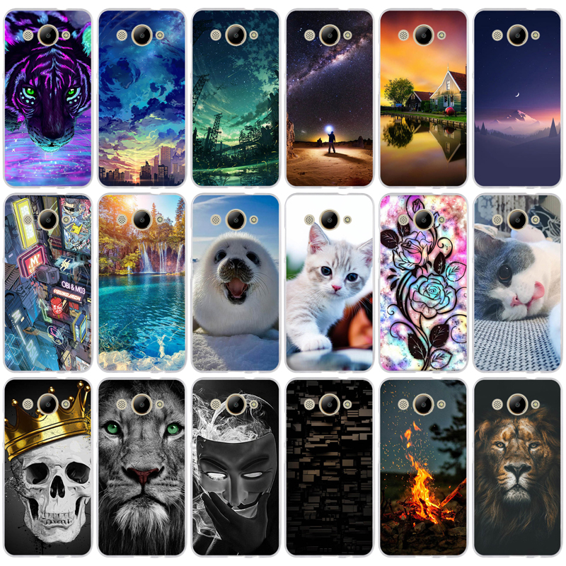 Case For Huawei Y3 2017 Cover Soft Silicone Back Cover For Huawei Y3 2017 MT6737M CRO-L02 CRO-L22 5.0 Inch Protective Phone Bags