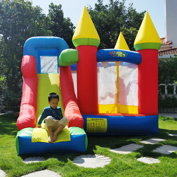 YARD Inflatable Bounce House Kids Funny Bouncy Castle 3.5x3x2.7M With Slide PVC Inflatable Games Children Jumping Bouncer House yard inflatable bounce house kids funny bouncy castle 3 5x3x2 7m with slide pvc inflatable games children jumping bouncer house