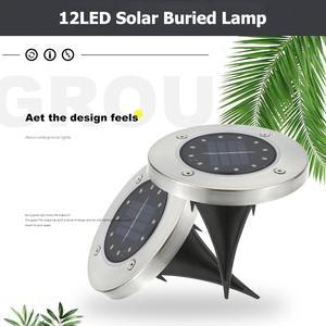 12 LED Solar Power Buried Light IP65 Waterproof Ground Lamp for Outdoor Path Way Garden Landscape Under Ground Lawn Lighting