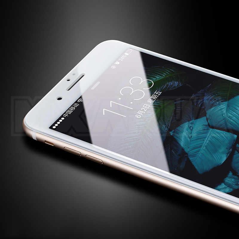 9D Penuh Cover Tempered Glass untuk iPhone 8 7 6 6S Plus SE 2020 Pelindung Layar iPhone X XR 11 Pro XS Max Perlindungan Kaca Film