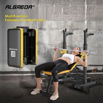 Портативные скамейки для фитнеса ALBREDA, тренажеры для фитнеса, гантели, штанги для гимнастики, фитнеса, дома, тренажерного зала, тренировки мы