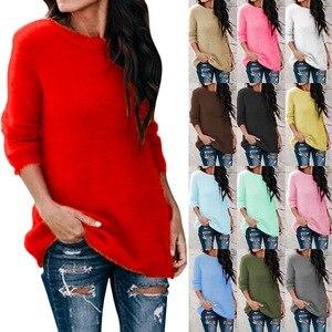 Fashion O-neck Sweater Autumn Winter Sweater Women 2020 Women Long Sleeve Warm Knitted Sweater Pullover Female Jumper