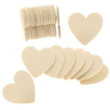 40 sztuk puste serce drewno plastry dyski drewniane serce miłość puste niedokończone naturalne artykuły rzemieślnicze ozdoby ślubne tanie tanio CN (pochodzenie) Heart Shape 3meters wood color wooden 13 13cm