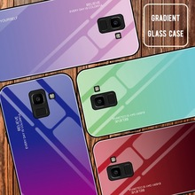 luxury-phone-case For samsung a50 case for s8 s9 s10 samsung- note 8 9 Tempered glass Gradient phone cases plus 5G M30