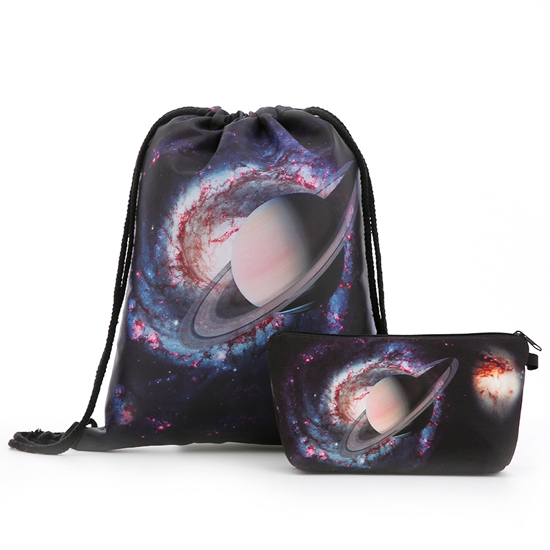 Backpack Starry Sky Bags Drawstring Cosmetic Suit Fashion Printing Travel Men Bags Women's Shoulder Softback Travel UNISEX New