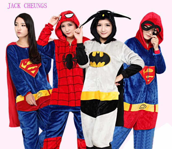 Pyjama Super Hero Onesies, Costume Animal Captain America Kigurumi, unisexe Cosplay Batman Baymax