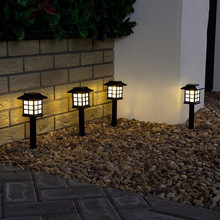 2pcs/Lot Solar Lantern Lawn Lamps Outdoor Garden Spotlight Pathway Landscape Retro Underground light