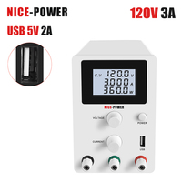 NICE POWER 120V 3A DC adjustable laboratory power supply lab bench source digital Eye protection LCD screen shipping from russia