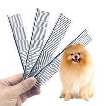 Combs Hair-Clipper Pet Pets-Dogs Tooth Stainless-Steel Double-Head Portable for Useful