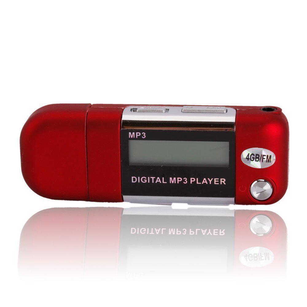 8GB Large Memory USB 2.0 Flash Drive LCD Mini MP3 Music Player With FM Radio High Quality Music Bar