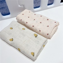 Newborn Baby Blanket Fruit Baby Swaddling Blankets Muslin Baby Swaddle Wrap Soft Organic Kids Toddler Stroller Bedding Blankets