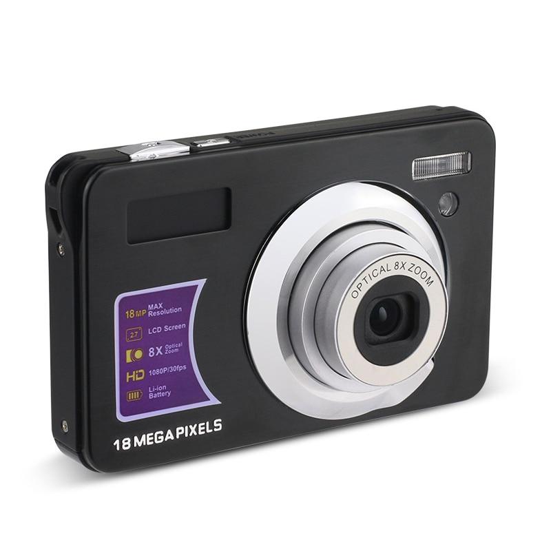 4K видеокамера 18MP 1080P HD Цифровая камера 8X Zoom Anti-Shake с вращающимся на 180 ° экраном микрофон для путешествий/подарок
