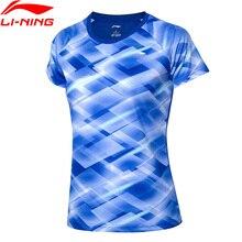 Li-NIng/женские футболки для соревнований по бадминтону на сухой дышащей полиэстеровый обычный подклад Спортивная футболка AAYP094 WTS1533